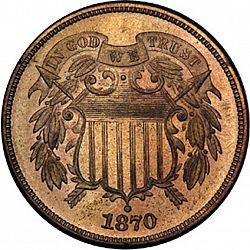 2 cent 1870 Large Obverse coin