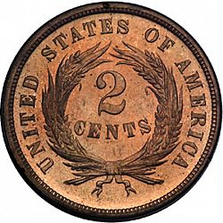 2 cent 1870 Large Reverse coin