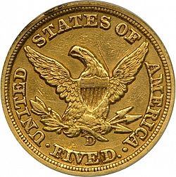 5 dollar 1849 Large Reverse coin