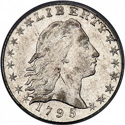 nickel 1795 Large Obverse coin
