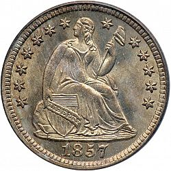 nickel 1857 Large Obverse coin