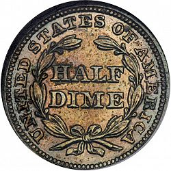 nickel 1849 Large Reverse coin