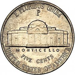 nickel 1943 Large Reverse coin