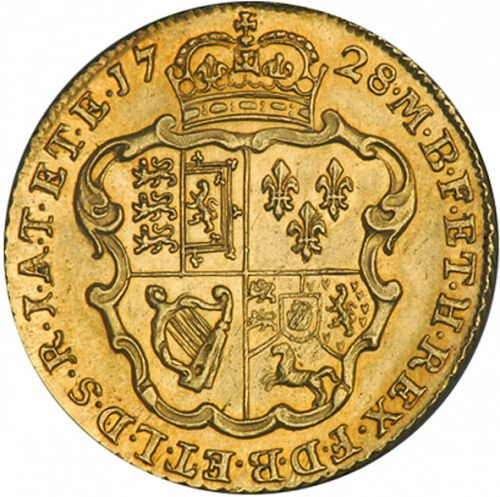 Guinea Reverse Image minted in UNITED KINGDOM in 1728 (1727-60 - George II)  - The Coin Database