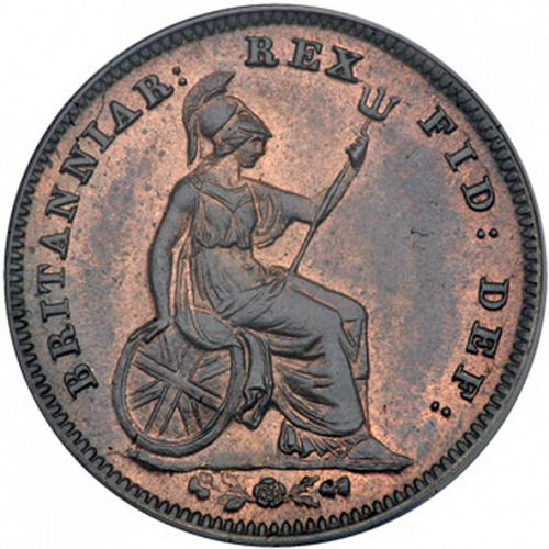 Third Farthing Reverse Image minted in UNITED KINGDOM in 1835 (1830-37 - William IV)  - The Coin Database