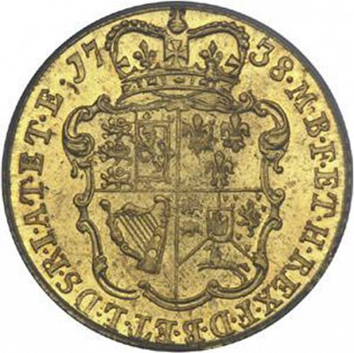 Half Guinea Reverse Image minted in UNITED KINGDOM in 1738 (1727-60 - George II)  - The Coin Database