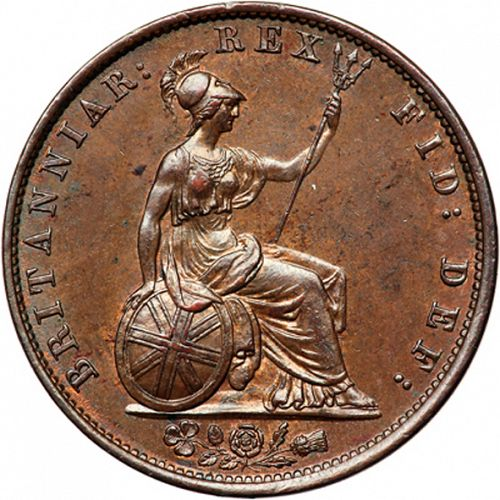 Halfpenny Reverse Image minted in UNITED KINGDOM in 1837 (1830-37 - William IV)  - The Coin Database