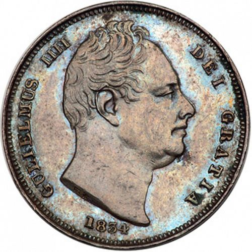 Farthing Obverse Image minted in UNITED KINGDOM in 1834 (1830-37 - William IV)  - The Coin Database