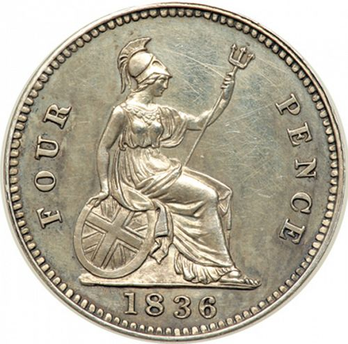 Groat Reverse Image minted in UNITED KINGDOM in 1836 (1830-37 - William IV)  - The Coin Database