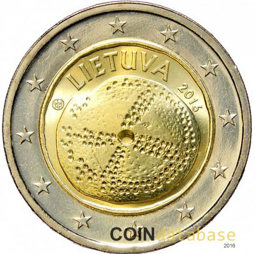 2 € Obverse Image minted in LITHUANIA in 2016 (Baltic culture)  - The Coin Database