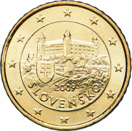 50 cent Obverse Image minted in SLOVAKIA in 2009 (1st Series)  - The Coin Database