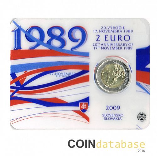 Set Obverse Image minted in SLOVAKIA in 2009 (2€ Coincard BU)  - The Coin Database