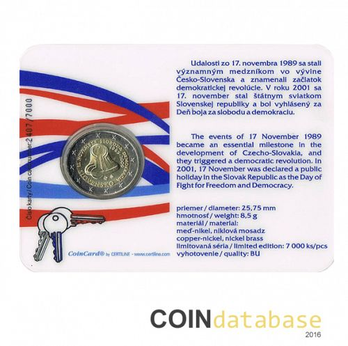 Set Reverse Image minted in SLOVAKIA in 2009 (2€ Coincard BU)  - The Coin Database