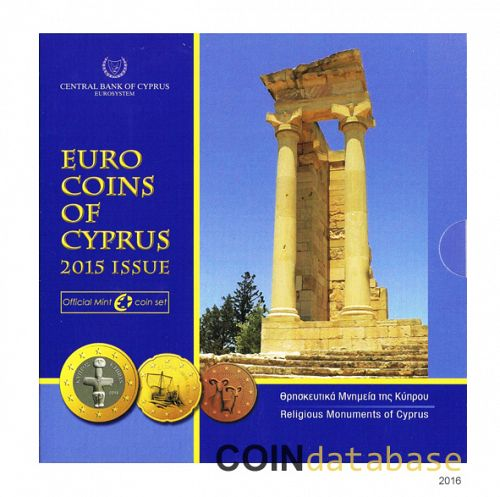 Set Obverse Image minted in CYPRUS in 2015 (Annual Mint Sets BU)  - The Coin Database
