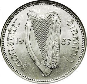 1s - Shilling Obverse Image minted in IRELAND in 1937 (1921-37 - Irish Free State)  - The Coin Database
