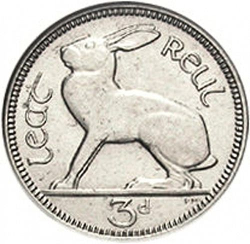 3d - 3 Pence Reverse Image minted in IRELAND in 1933 (1921-37 - Irish Free State)  - The Coin Database