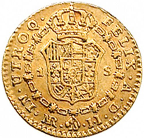 1 Escudo Reverse Image minted in SPAIN in 1778JJ (1759-88  -  CARLOS III)  - The Coin Database