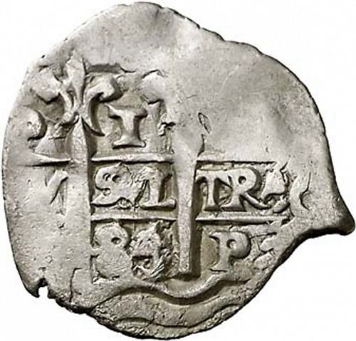 1 Real Obverse Image minted in SPAIN in 1684V (1665-00  -  CARLOS II)  - The Coin Database
