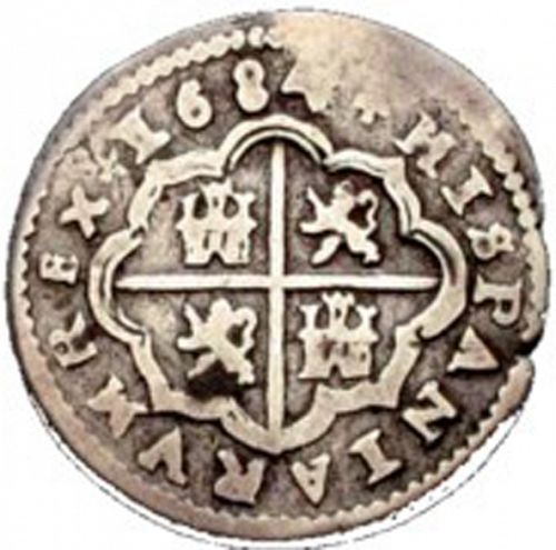 1 Real Reverse Image minted in SPAIN in 1684BR (1665-00  -  CARLOS II)  - The Coin Database