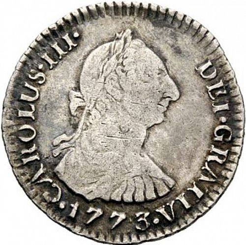 1 Real Obverse Image minted in SPAIN in 1773VJ (1759-88  -  CARLOS III)  - The Coin Database