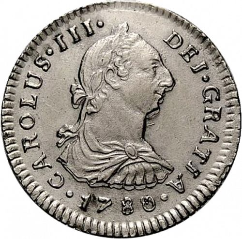 1 Real Obverse Image minted in SPAIN in 1780MI (1759-88  -  CARLOS III)  - The Coin Database