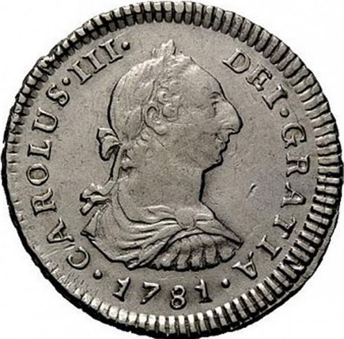 1 Real Obverse Image minted in SPAIN in 1781MI (1759-88  -  CARLOS III)  - The Coin Database