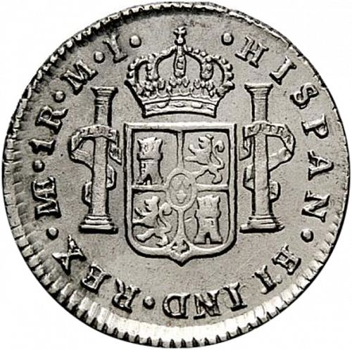 1 Real Reverse Image minted in SPAIN in 1780MI (1759-88  -  CARLOS III)  - The Coin Database