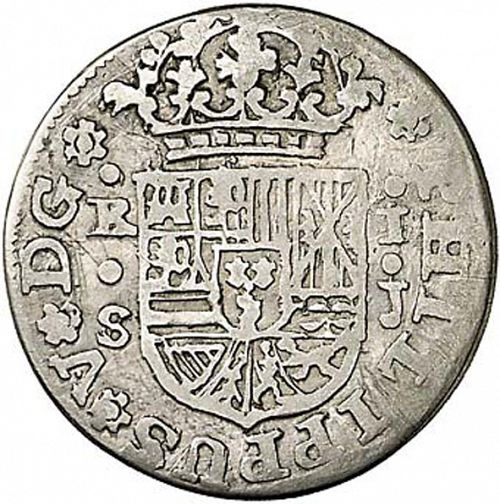 1 Real Obverse Image minted in SPAIN in 1717J (1700-46  -  FELIPE V)  - The Coin Database