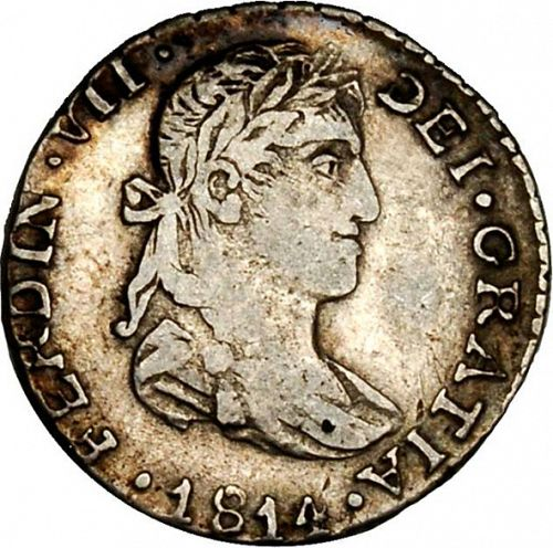 1 Real Obverse Image minted in SPAIN in 1814MR (1808-33  -  FERNANDO VII)  - The Coin Database