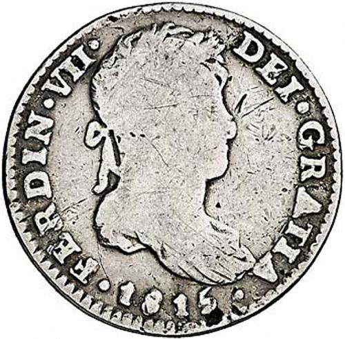 1 Real Obverse Image minted in SPAIN in 1815HJ (1808-33  -  FERNANDO VII)  - The Coin Database
