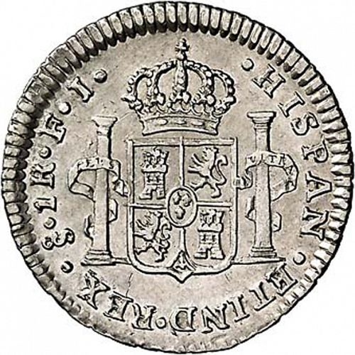 1 Real Reverse Image minted in SPAIN in 1812FJ (1808-33  -  FERNANDO VII)  - The Coin Database