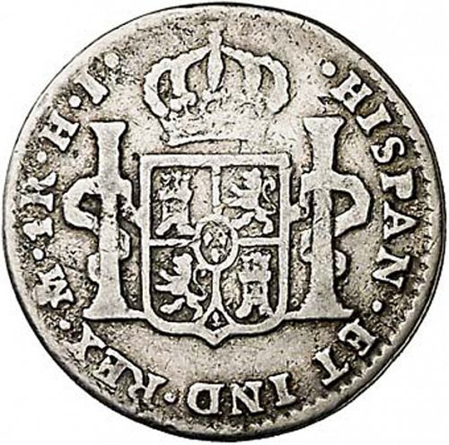 1 Real Reverse Image minted in SPAIN in 1815HJ (1808-33  -  FERNANDO VII)  - The Coin Database