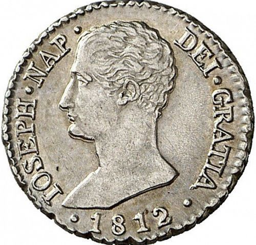 1 Real Obverse Image minted in SPAIN in 1812AI (1808-13  -  JOSE NAPOLEON)  - The Coin Database