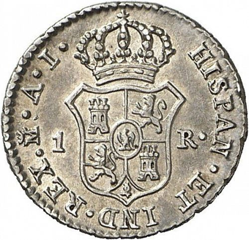 1 Real Reverse Image minted in SPAIN in 1812AI (1808-13  -  JOSE NAPOLEON)  - The Coin Database