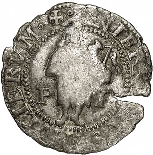 1 sou Reverse Image minted in SPAIN in ND (1556-98  -  FELIPE II - Local Coinage)  - The Coin Database