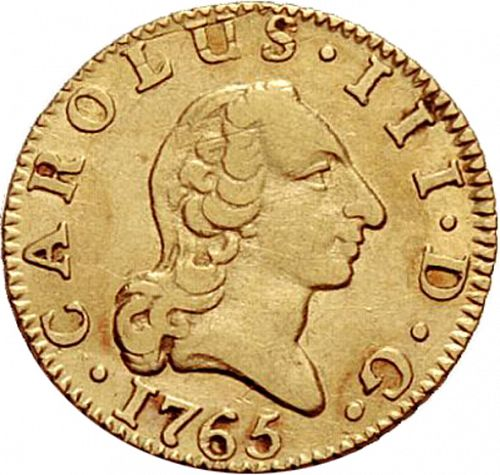half Escudo Obverse Image minted in SPAIN in 1765JP (1759-88  -  CARLOS III)  - The Coin Database