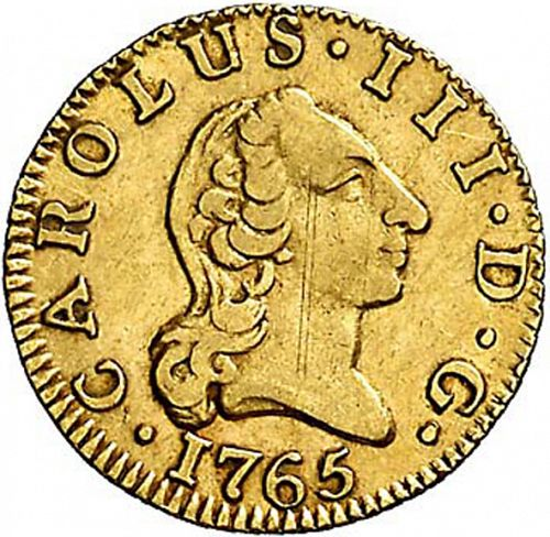 half Escudo Obverse Image minted in SPAIN in 1765PJ (1759-88  -  CARLOS III)  - The Coin Database