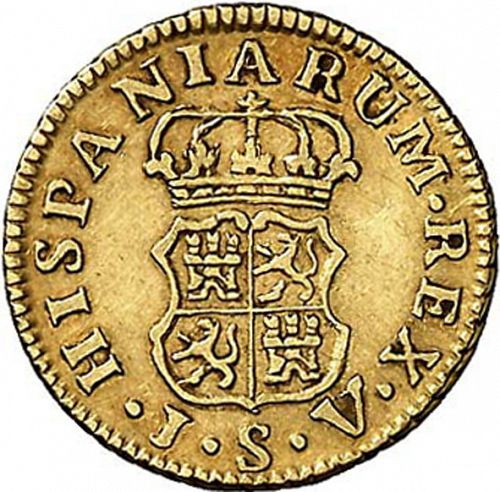 half Escudo Reverse Image minted in SPAIN in 1759JV (1759-88  -  CARLOS III)  - The Coin Database