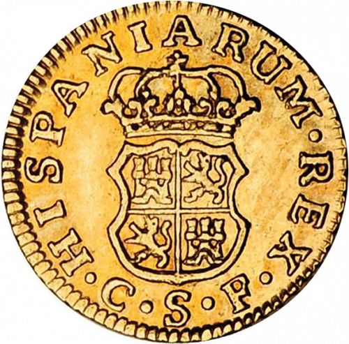 half Escudo Reverse Image minted in SPAIN in 1768CF (1759-88  -  CARLOS III)  - The Coin Database