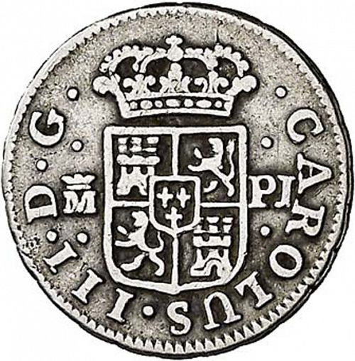 half Real Obverse Image minted in SPAIN in 1771PJ (1759-88  -  CARLOS III)  - The Coin Database