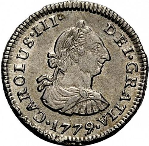 half Real Obverse Image minted in SPAIN in 1779MJ (1759-88  -  CARLOS III)  - The Coin Database