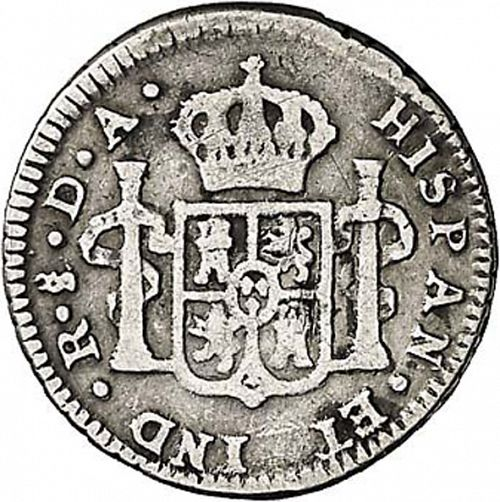 half Real Reverse Image minted in SPAIN in 1773DA (1759-88  -  CARLOS III)  - The Coin Database
