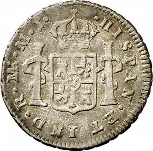 half Real Reverse Image minted in SPAIN in 1776MJ (1759-88  -  CARLOS III)  - The Coin Database