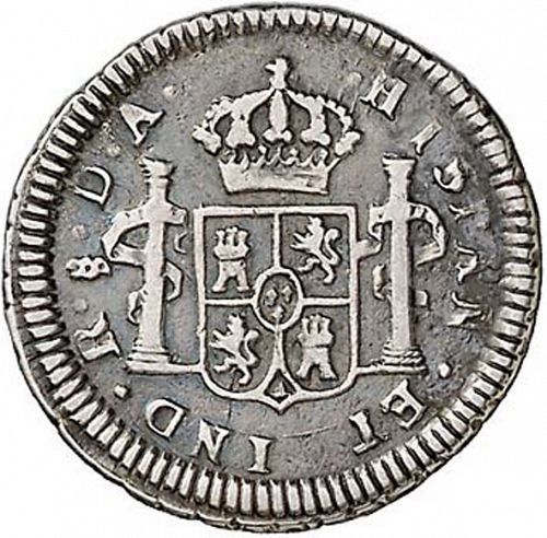 half Real Reverse Image minted in SPAIN in 1780DA (1759-88  -  CARLOS III)  - The Coin Database