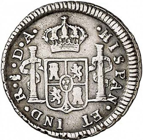 half Real Reverse Image minted in SPAIN in 1788DA (1759-88  -  CARLOS III)  - The Coin Database