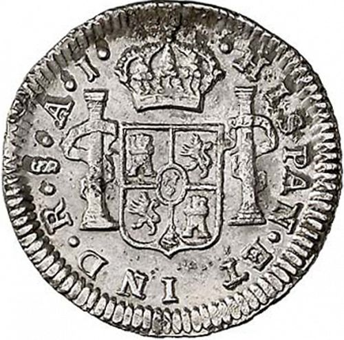 half Real Reverse Image minted in SPAIN in 1800AJ (1788-08  -  CARLOS IV)  - The Coin Database
