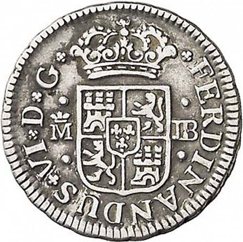 half Real Obverse Image minted in SPAIN in 1750JB (1746-59  -  FERNANDO VI)  - The Coin Database