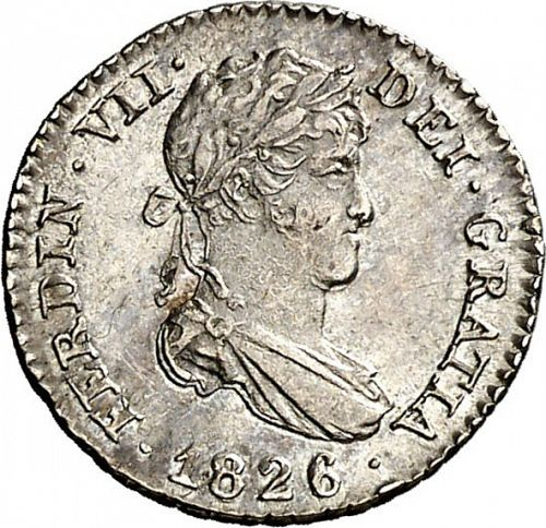 half Real Obverse Image minted in SPAIN in 1826AJ (1808-33  -  FERNANDO VII)  - The Coin Database