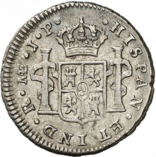 half Real Reverse Image minted in SPAIN in 1810JP (1808-33  -  FERNANDO VII)  - The Coin Database