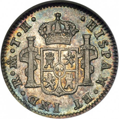 half Real Reverse Image minted in SPAIN in 1810TH (1808-33  -  FERNANDO VII)  - The Coin Database
